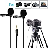 157'' BOYA BY-LM300 Dual-head Lavalier Lapel Microphone Clip-on Omni-directional Condenser Mic for Canon Nikon Sony DSLR Camera Camcorder Sony DV PC Laptop