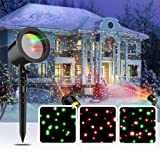 COOWOO Christmas Laser Lights, Star Laser Projector Light Show for Outdoor Decorations, Waterproof Landscape Lighting for Christmas and Holidays (Color: RG-601)