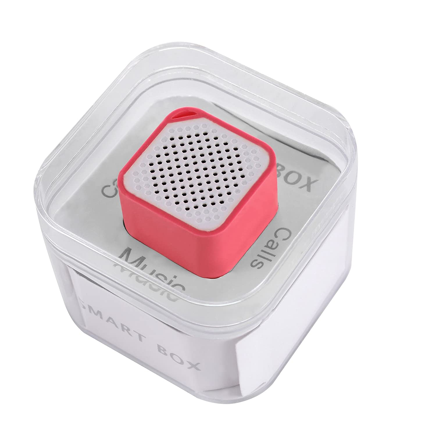 Elsse Micro Music Cube Bluetooth Speaker with Built in Microphone for iPhone, Samsung Galaxy S5 / S6, HTC One M8 / M9 and Any Bluetooth Compatible Smartphones and Music Players - Pink poweradd™ ultra portable wireless bluetooth speaker with built in microphone and rechargeable battery for iphone ipad samsung tablets laptops mp3 players and other bluetooth enable devices