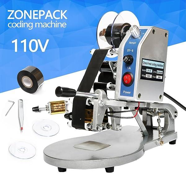 ZONEPACK DY-8 Date Printing Machine Hot Code Stamp Printer Semi ...