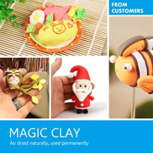 Sago Brothers Modeling Clay Air Dry Ultra Light Molding Magic Clay 24 Colors, Best Kids Gifts Ever (Tamaño: 24 Pack)