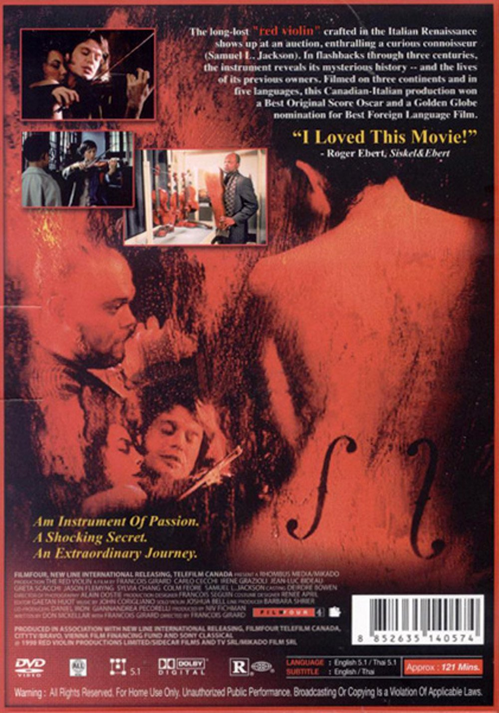 the universality of the language of music expressed in the movie the red violin View this student essay about the red violin the universality of the language of music and the immortality of the red violin - film study from bookrags.