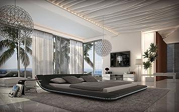 Designerbett Custo 180 x 200 cm Schwarz modernes Design