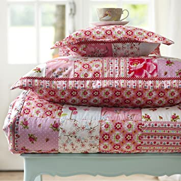 Pip Tagesdecke Quilt Chinese Blossom Patch Pink 150x200 Cm Rabatt