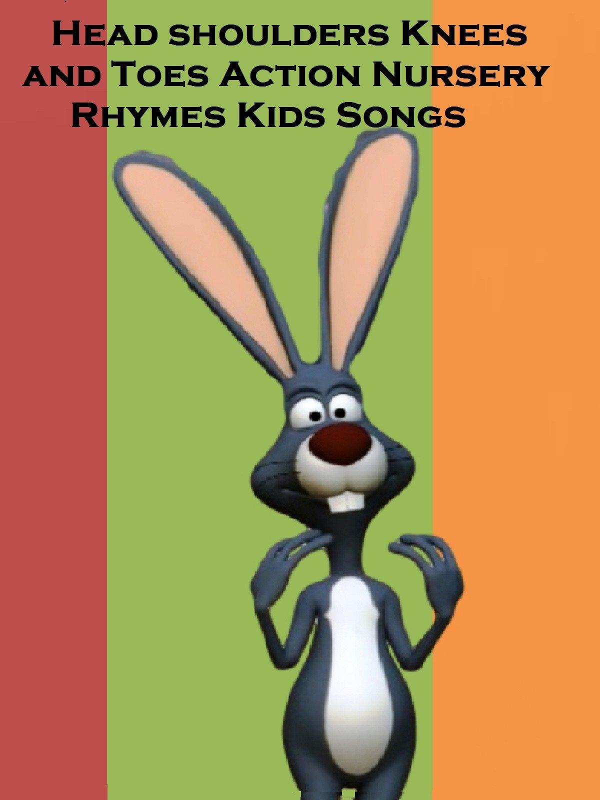 Head shoulders Knees and Toes Action Nursery Rhymes Kids Songs