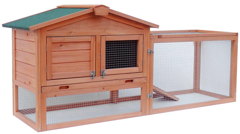 Pet Rabbit Bunny Wood House and Run