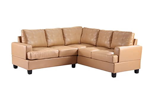 Glory Furniture G581B-SC Sectional Sofa, Tan, 2 boxes