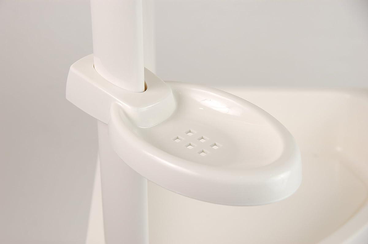 Tenby Living Corner Shower Caddy - 3 Shelf Shower Organizer Caddie with Movab...