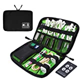 MICRORANGE Electronics Accessories Organizer Bag Travel Portable Case for Cable,Hard Drives,USB Charger,Phone,Charging Cords (Black)