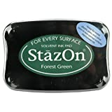 Tsukineko Full-Size StazOn Multi-Surface Inkpad, Forest Green (SZ000099) (Color: Forest Green)