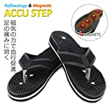 U.S. Jaclean Foot Reflexology Sandals for Mens Womens Therapeutic Acupressure Magnetic Massaging Sandals Slippers Accu Step Y-Strap (M(M6.5-8/W7.5-9)) (Tamaño: M(M6.5-8/W7.5-9))