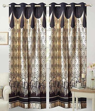 Buy Super India Modern Jacquard Long Door Curtains (Set of 2)- 9 ...
