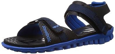 7b066adaf094c8 Reebok Men s Realflex Adventure II LP Black and Blue Sport Sandals and  Floaters - 10 UK ...