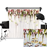 Kate 10x10ft/3x3m Wedding Backdrops White Wedding Party Backgrounds Bridal Shower Photography Studio Flower Backdrop (Color: A4269, Tamaño: 10x10ft)