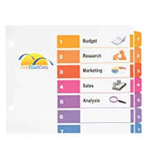 Avery Ready Index Table of Contents Dividers, 10-Tab Set (11135)