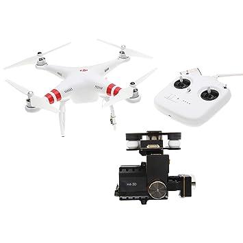 DJI Phantom DJIP2H4 Drône Quadricoptère radiocommandé 2 UAV  avec Support pour Caméra Vidéo Zenmuse H4-3D Gimbal Compatible avec GoPro Hero4 et Action Cameras - Blanc