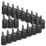 Retevis RT15 Walkie Talkies Rechargeable with Charger UHF 16 Channel VOX Scrambler Security 2 Way Radios(20 Pack) (Color: Black)