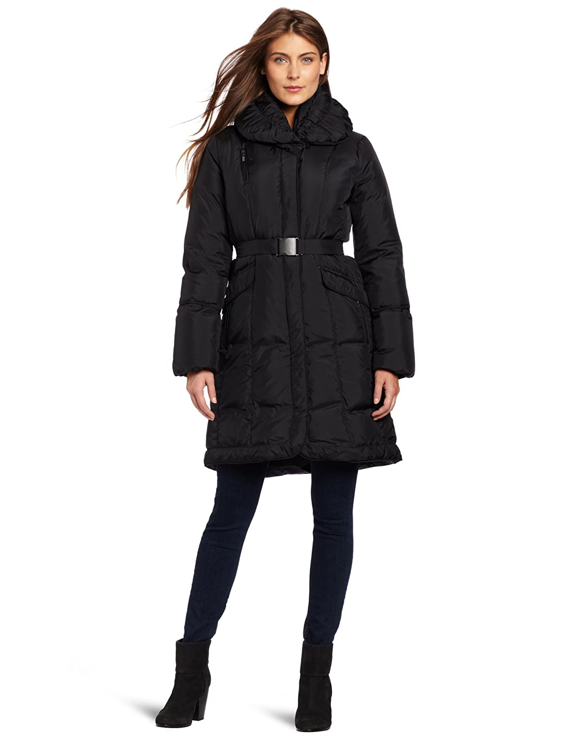 Cole Haan Women's Classic Down Belted Coat
