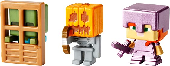 Minecraft Mini Figure 3-Pack Alex with Enchanted Armor Skeleton with Pumpkin Armor amp Zombie At Doo