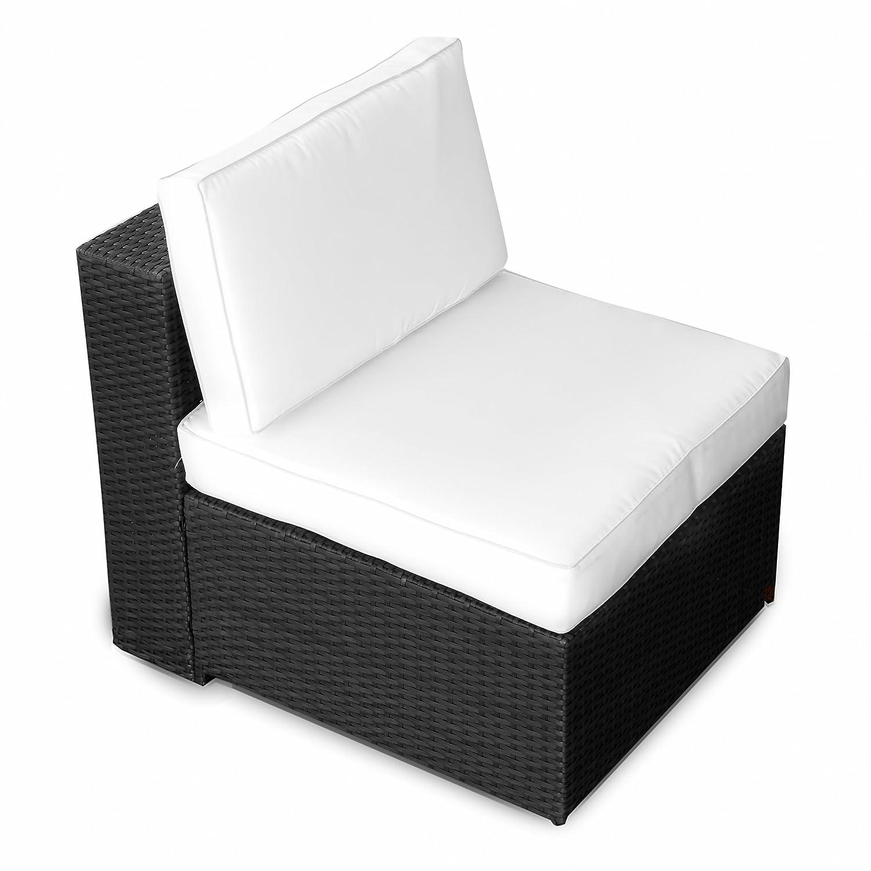 XINRO (1er) Polyrattan Lounge Sessel – Mittelteil – Gartenmöbel Polyrattan Sessel – durch andere Polyrattan Lounge Gartenmöbel Elemente erweiterbar – In/Outdoor – handgeflochten – schwarz günstig kaufen