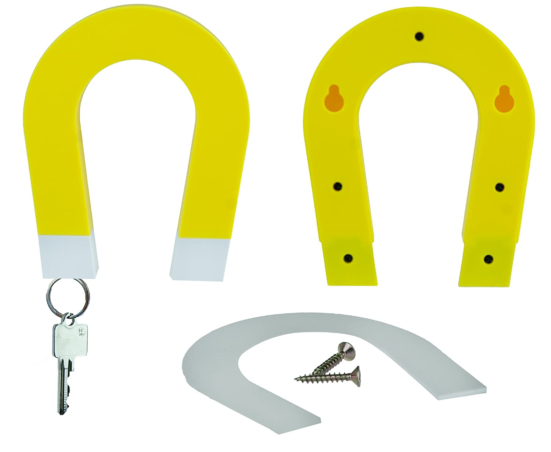 schl sselhalter hufeisen magnet rot blau gelb huf eisen. Black Bedroom Furniture Sets. Home Design Ideas