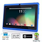 Dragon Touch® 7'' Blue Dual Core Y88 Google Android 4.1 Tablet PC, Dual Camera, HD 1024x600, Google Play Pre-load, HDMI, 4GB 3D Game Supported (enhanced version of A13)