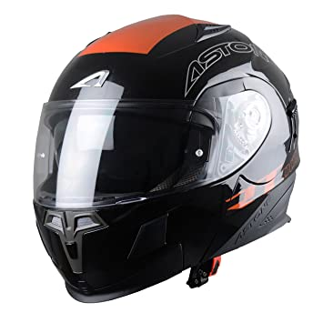 Astone Helmets RT1000GEX-ARKO-BOM Casque Modulable RT1000 Arko Orange Taille M