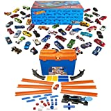 Bundle Includes 2 Items - Hot Wheels Basic Car 50-Pack (Packaging May Vary) and Hot Wheels Track Builder Stunt Box