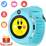 Kids Smartwatch with GPS Tracker Phone Remote Monitor Camera Touch Screen One Game Anti Lost Alarm Clock App Control by Parents for Children Boys Girl