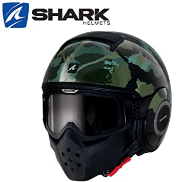 Casque SHARK Raw Kurtz brillant army camouflage