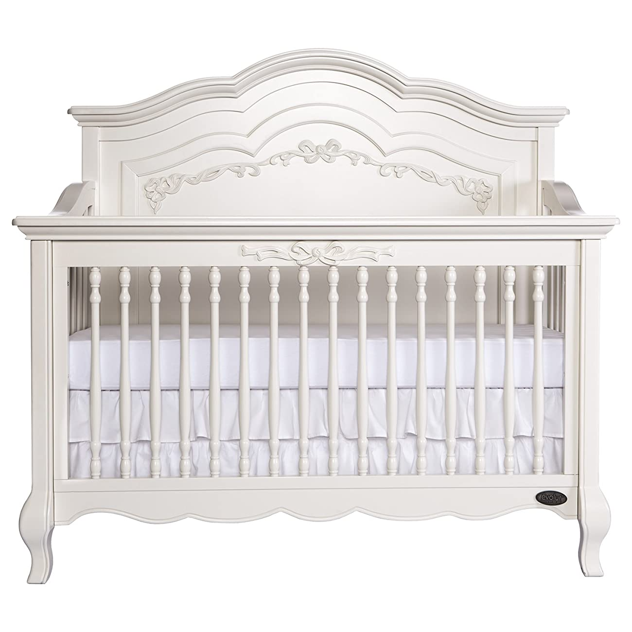 Evolur Aurora 5-in-1 Convertible Crib, Ivory Lace 0