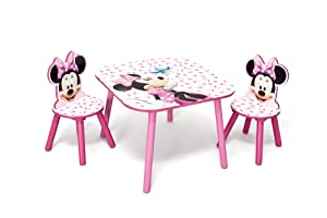 Delta TT 89436 Minnie Tisch 60 x 60 cm plus 2 Stühle, MDF    Überprüfung und Beschreibung