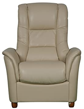 The Shanghai - Quality Bonded Leather Fixed Armchair Chair in Two Colours (Cream)