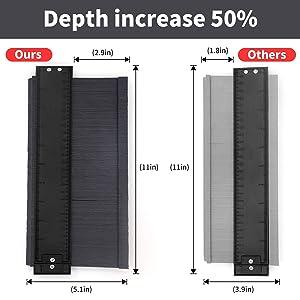 Wristour 10 inch Widen Contour Gauge Duplicator, Gauge Profile Copy Tool Shape Measuring for Corners and Contoured (Color: Gray)