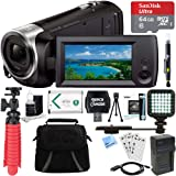 Beach Camera Sony HDR-CX405/B Full HD 60p Camcorder + 64GB Ultra MicroSDXC UHS-I Memory Card + NP-BX1 Battery Pack + Accessory Bundle (Tamaño: 64GB Ultimate Bundle)