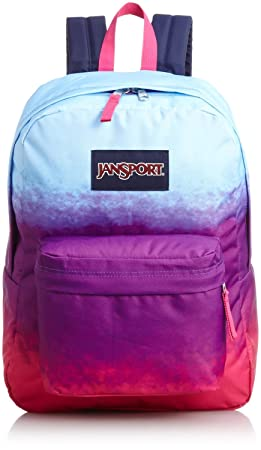 Classic Jansport Superbreak Backpack (Purple Night Color Ombre (T50102C))