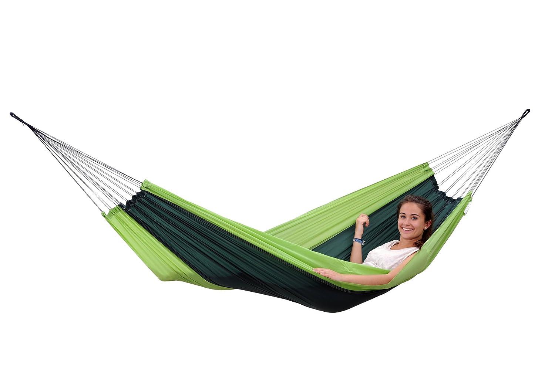 Hängematte Silk Traveller Fallschirmseide grün – Belastbar bis 150 Kg günstig