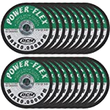 20 Pack - Premium Cut Off Wheels 3 Inch x 1/32 Inch x 3/8 Inch Arbor - For Cutting All Steel and Ferrous Metals. (Color: green)