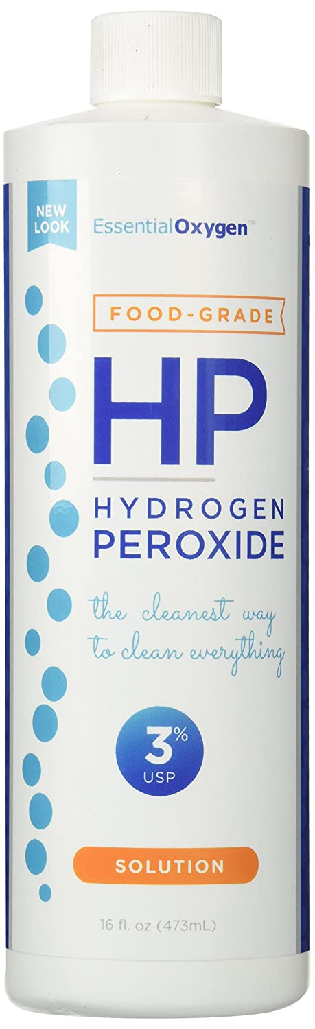 Amazon.com: Essential Oxygen+ Hydrogen Peroxide 3% Food Grade 16 ...