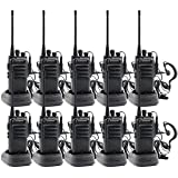 walkie talkies Rechargeable Long Range Waterproof Two-Way Radios Earpiece 10 Pack UHF 400-480Mhz Li-ion Battery Charger Included (Color: 10pcs)