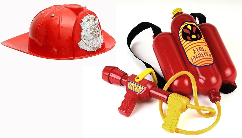 Brigamo Spiele 468 – Feuerwehr Ausrüstung Set inkl. Spritze und Feuerwehr Helm günstig als Geschenk kaufen
