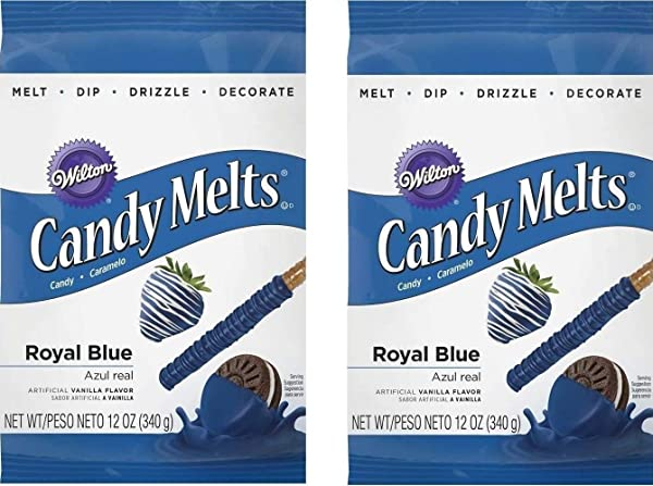 Wilton 1911-6076 Candy Melts, 12-Ounce, Royal Blue(2pk) (Tamaño: 12.0 Ounce (Pack of 2))