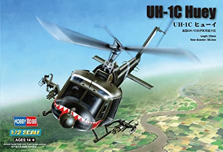 Hobby Boss 87229 UH-1C Huey 1:72 Plastic Kit Maquette