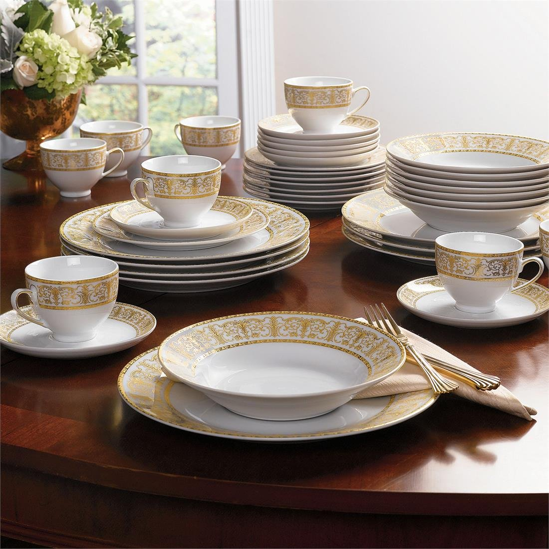 Gold Christmas Dinnerware Sets Wikii