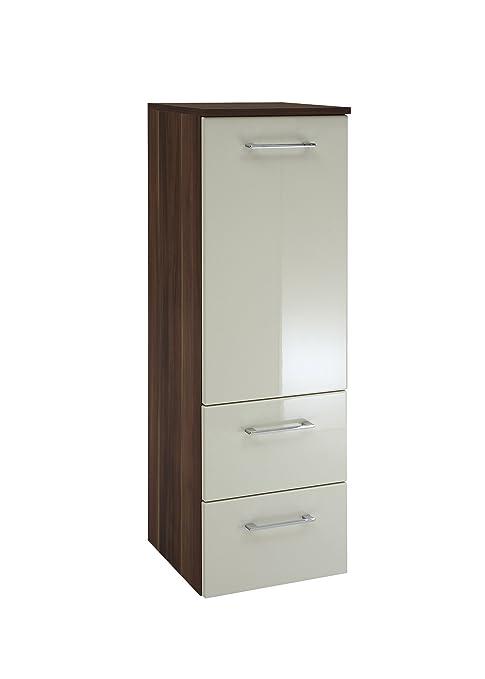 iovivo Alex Bathroom Cabinet Width 35 cm creme/nussbaumfarben