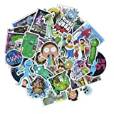 50 Pieces Vinyl Personalize Laptop Stickers, for Motorcycle, Bicycle, Skateboard, Luggage Decal Car Sticker Pack (Color: Section-p, Tamaño: Section-P)