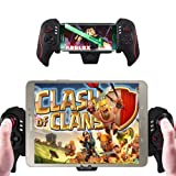 XFUNY Wireless Bluetooth Telescopic Controller Gamepad with 4.7 to 10.6 inches Clip for Android Smartphone Tablet Samsung Galaxy Series - Support Android 4.0 or Above System / PC (Color: Black)