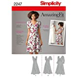 Simplicity Amazing Fit Collection Women's Summer Dress Sewing Pattern, Sizes 20W-28W (Tamaño: BB (20W-28W))