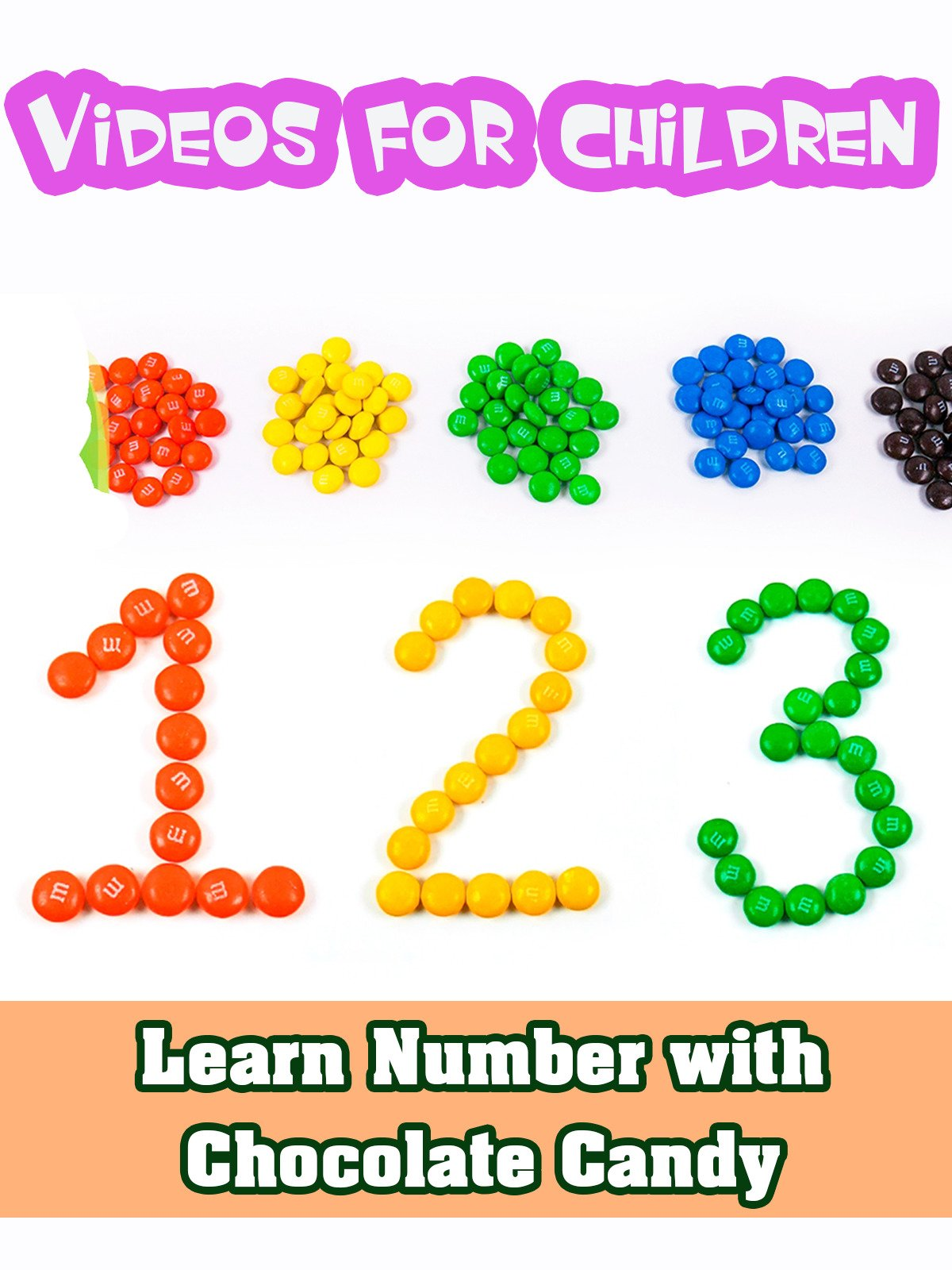 Learn Number with Chocolate Candy