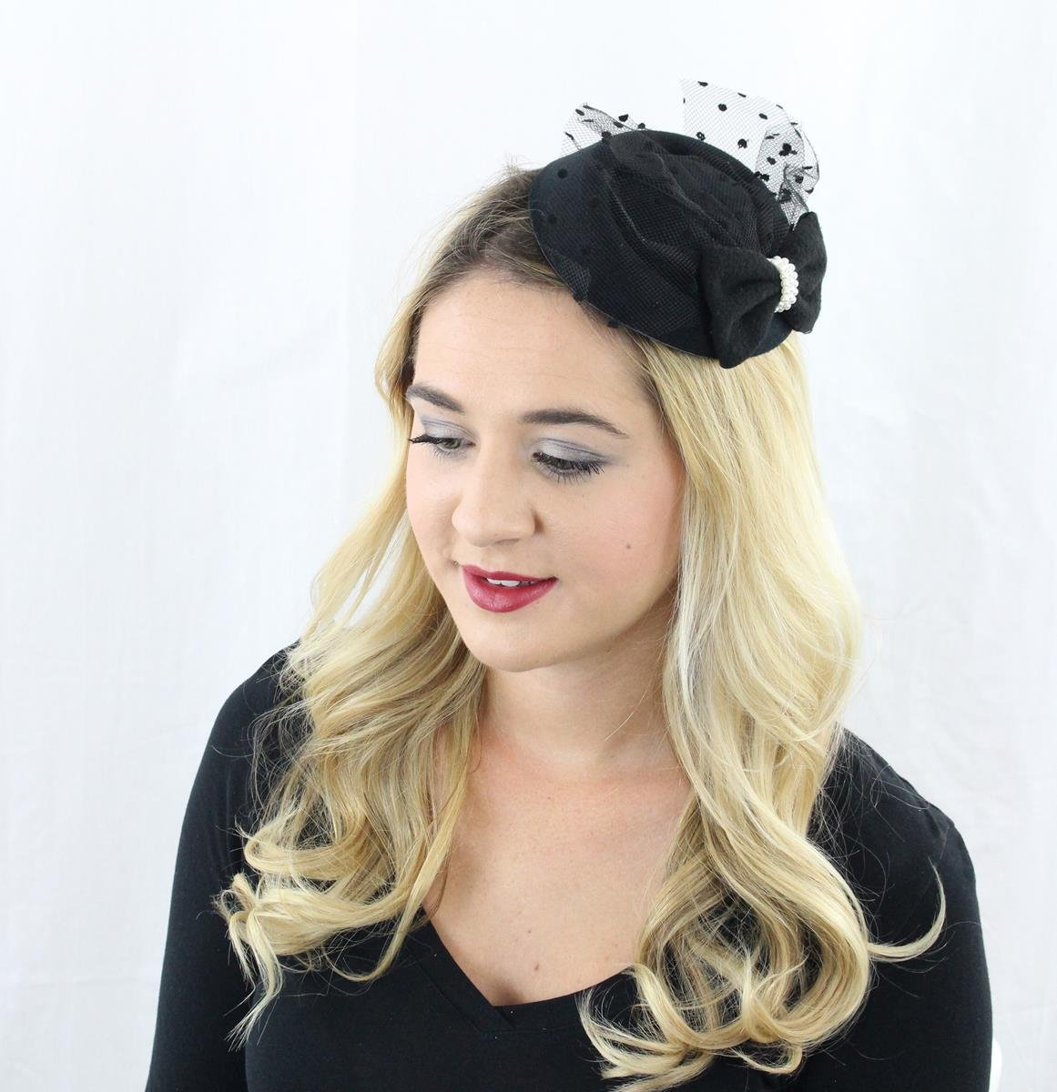 The Kate Pillbox Fascinator Hat with Hair Clip for Women 5